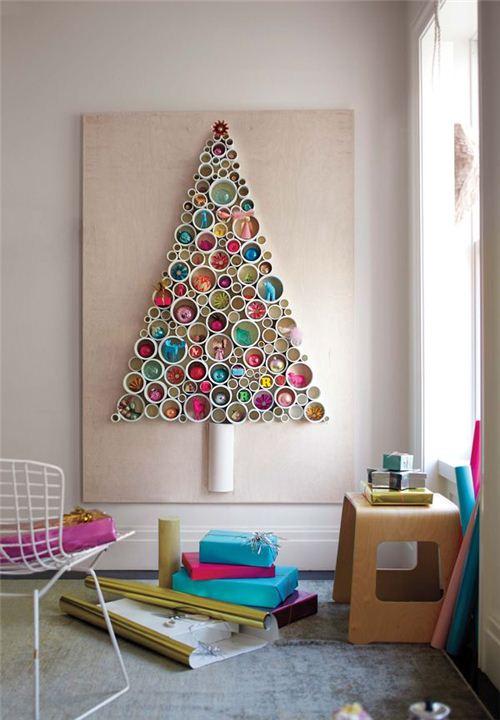 Wonderful Christmas tree wall decoration on Pinterest