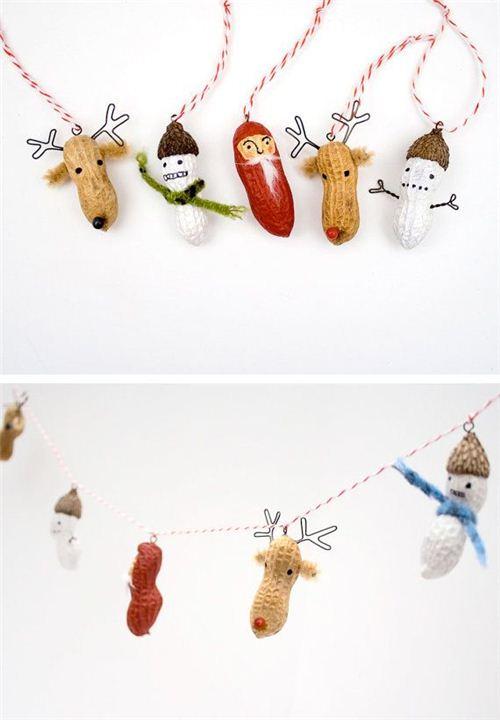 Fun Christmas peanut chain on Pinterest
