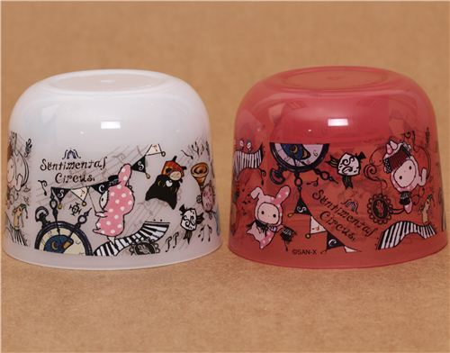 pink Sentimental Circus bottle cap cups San-X
