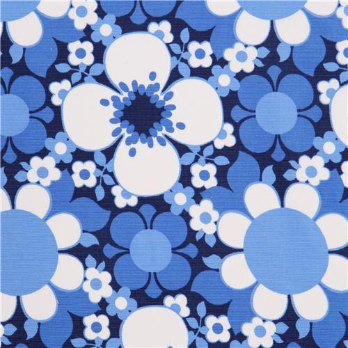dark blue flower corduroy fabric by Timeless Treasures