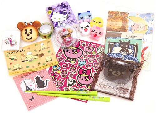 Stickers, squishies, Re-Ments, erasers, deco tapes and more