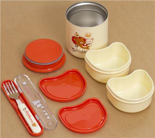 big Rilakkuma bear egg Bento Set Lunch Box + bag San-X