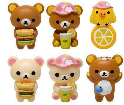Rilakkuma bear picnic bath bomb salt with surprise toy