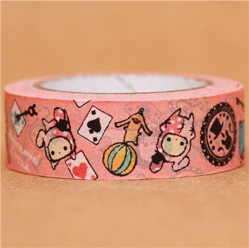 pink Sentimental Circus card game Washi Masking Tape