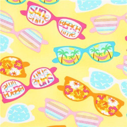 yellow Timeless Treasures summer sunglasses fabric