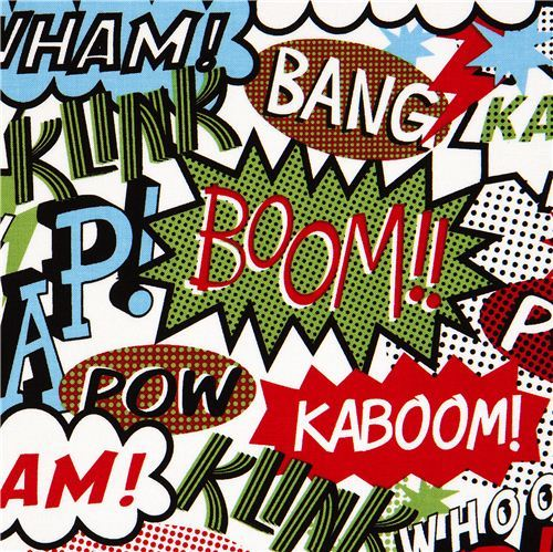 Michael Miller retro comic fabric Zap Pow Boom