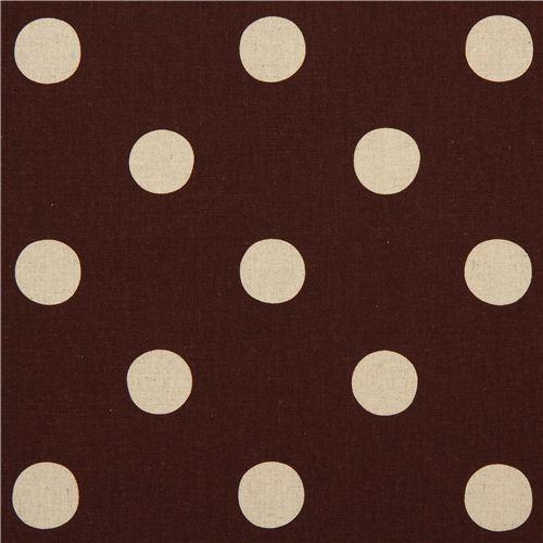 brown echino polka dot poplin fabric maruco