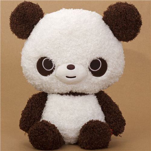 very big brown-white Chocopa bear plush toy by San-X