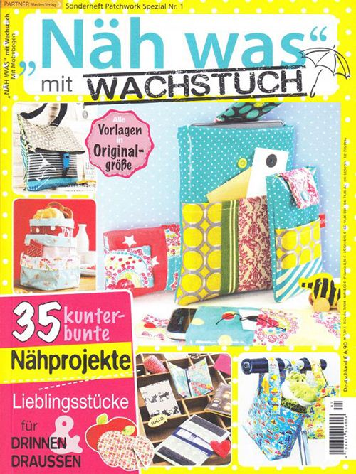 We are featured in the German magazine Näh was mit Wachstuch.