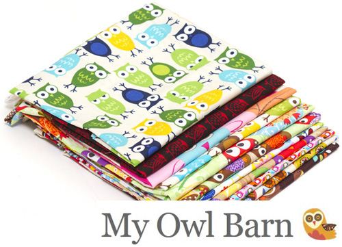 We teamed up with the blog My Owl Barn for a kawaii owl fabric Giveaway