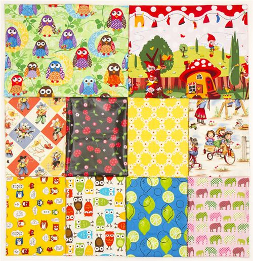 We included some of our most popular fabrics like Gnomeville or What a Hoot