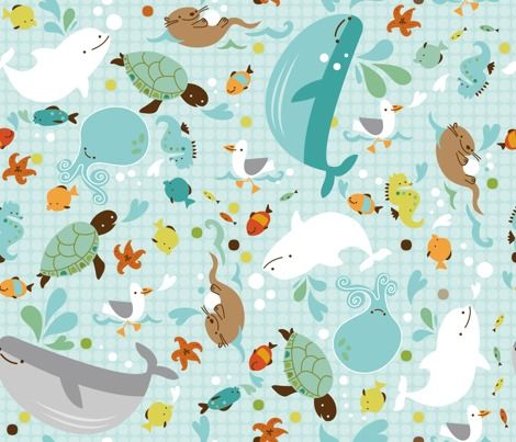 another cute fabric with sea animals