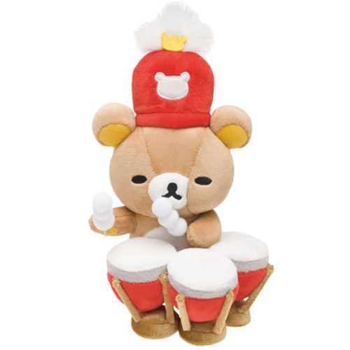 Rilakkuma Wonderland brown bear Timpani drums plushie