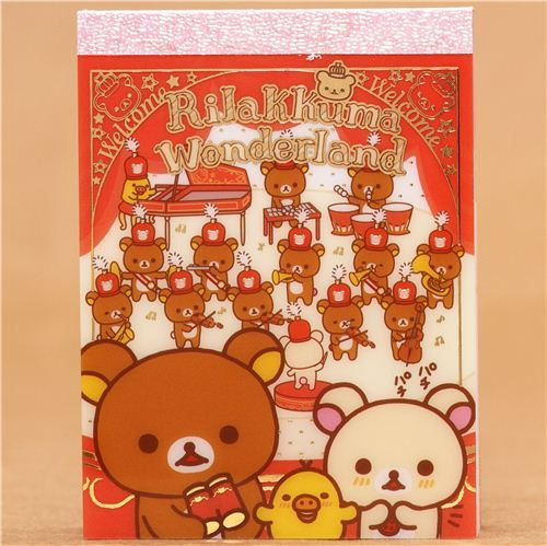 Rilakkuma Wonderland mini note pad marching band concert