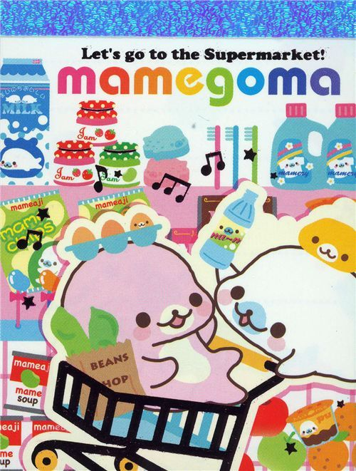 cute Mamegoma mini Memo Pad baby seals supermarket