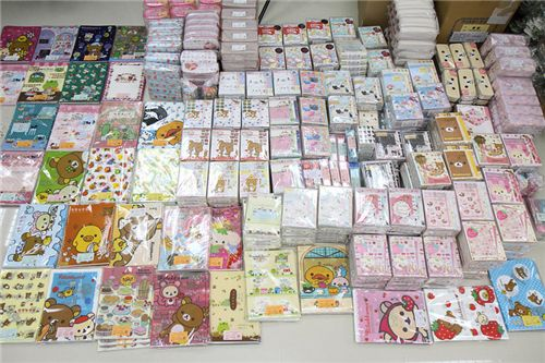 lots of cute San-X stationery from Japan