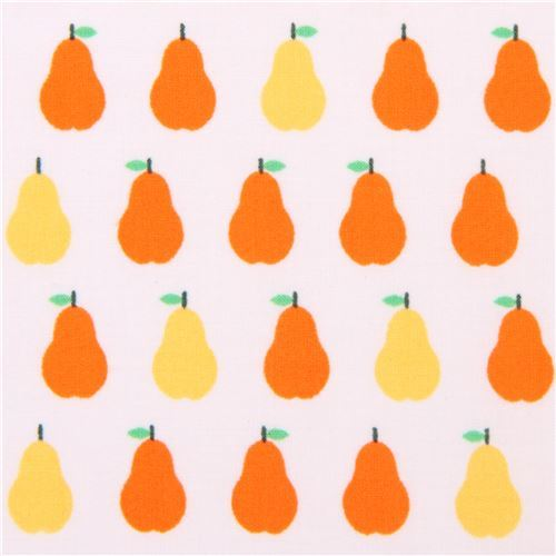pale peach-pink Robert Kaufman small pear fruit fabric London Calling 7