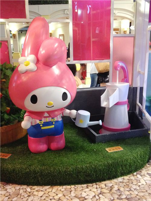 My Melody in the greenhouse
