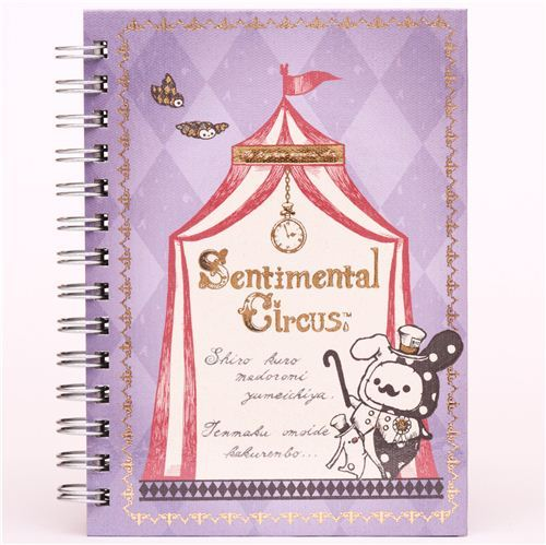 Sentimental Circus Shappo with mustache ring binder notebook