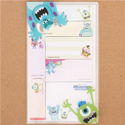 Monsters University Mike bookmark stickers set 7pcs Japan