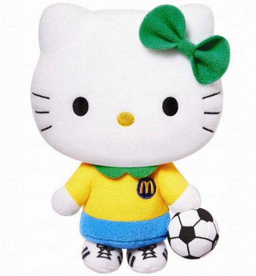 McDonald's K League Hello Kitty soccer player plush