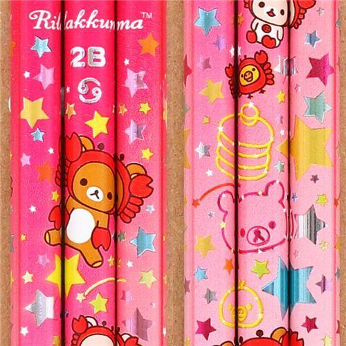 pink zodiac sign Cancer Rilakkuma bear pencil San-X