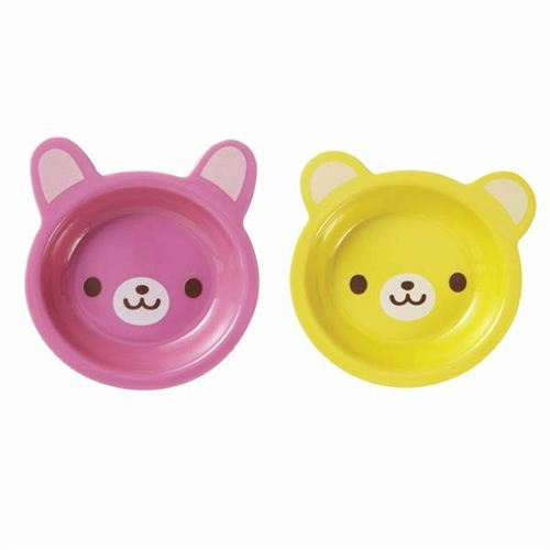bear and rabbit plate bento dish kids plate