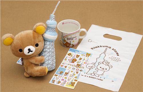 The Rilakkuma prize consists of items of the limited Rilakkuma Skytree edition