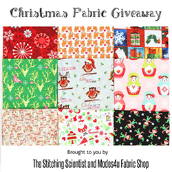 Christmas Fabric Giveaway on The Stitching Scientist (ends on Nov 3rd, 2016)