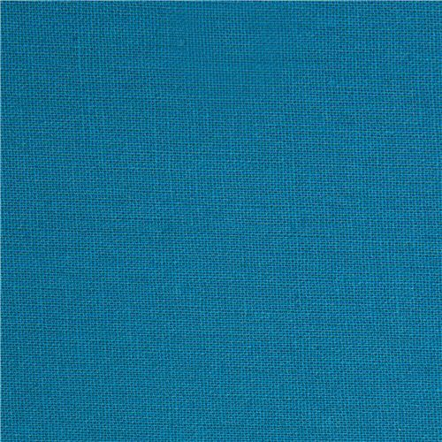 solid blue echino canvas fabric from Japan