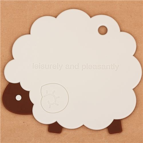 kawaii sheep animal silicone mat coaster from Japan