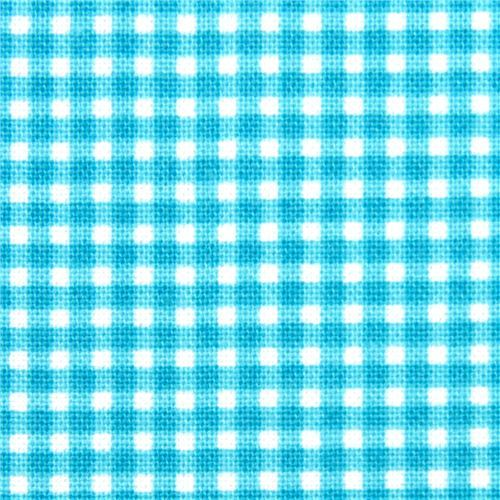 turquoise checkered Michael Miller fabric Gingham pattern
