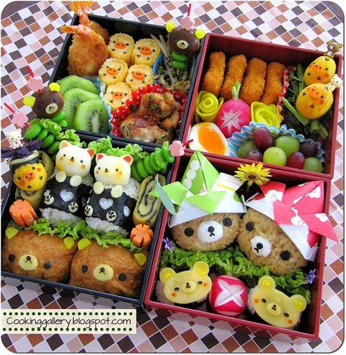Big and yummy Rilakkuma bento by Cooking-Gallery