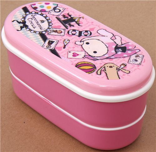pink Sentimental Circus Bento Box with rabbit