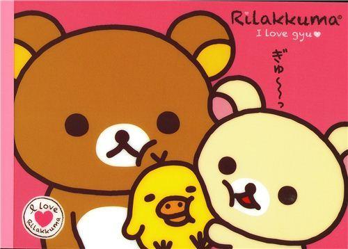 Rilakkuma Memo Pad with bears and chick by San-X Japan