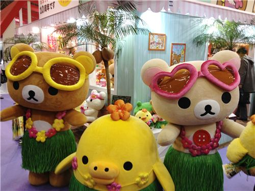Hawaii Rilakkuma and friends during a show