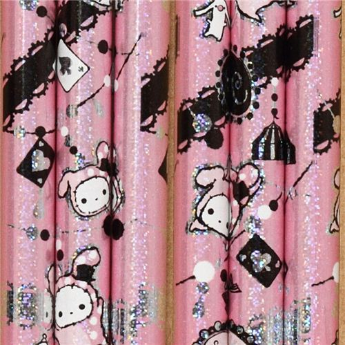pale pink Sentimental Circus glitter pencil 2B rabbit Shappo