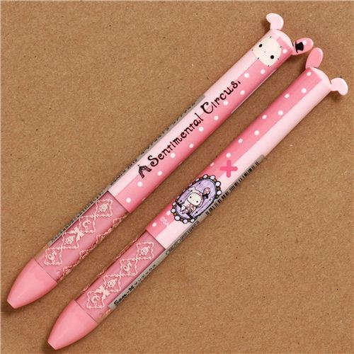 pale pink Sentimental Circus Ballpoint Pen with 2 colours