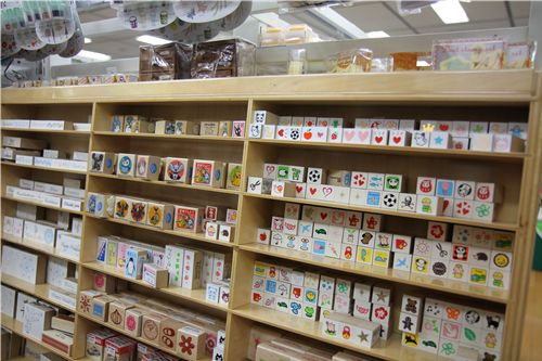 they also had a huge collection of cute stamps