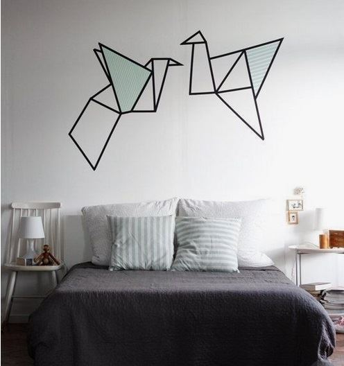 Origami washi tape art is awesome! Image from buzzfeed.com