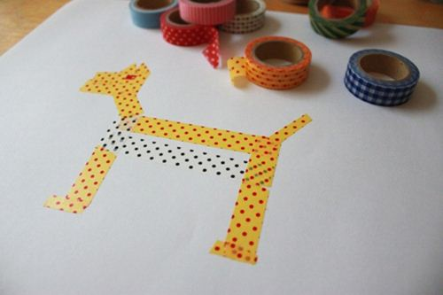 Make your own Washi tape pet! Courtesy of The Artful Parent