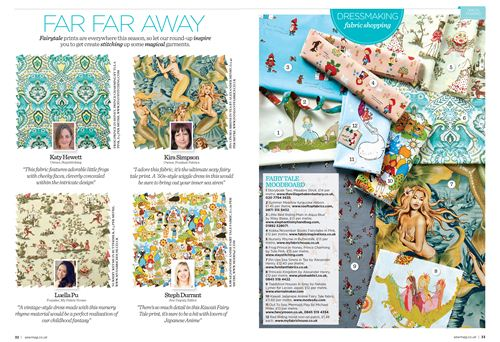 You can see our Anime fairy tale fabric on both pages