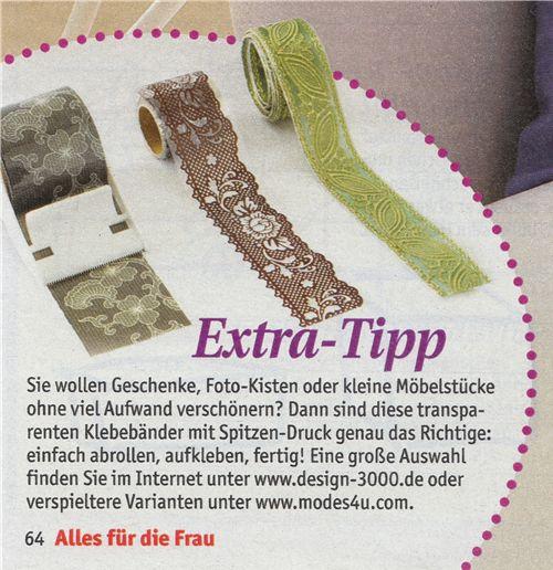 We are in the new 'Alles für die Frau' magazine 3