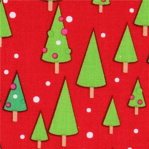 red Riley Blake Christmas fabric Christmas tree
