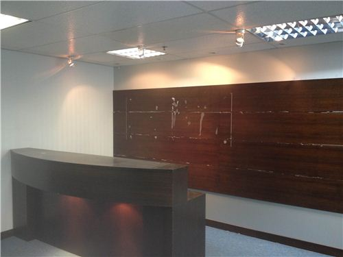 This reception desk will be removed