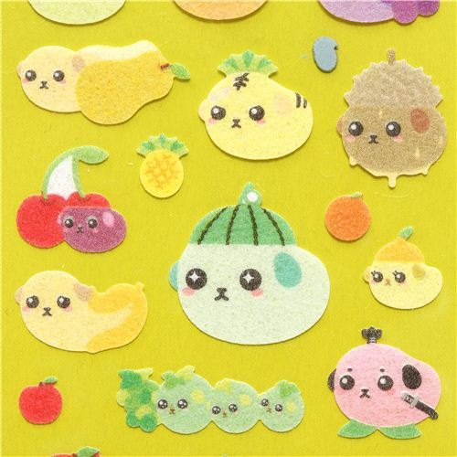 Mameshiba rough Babyshiba baby fruit bean dog stickers