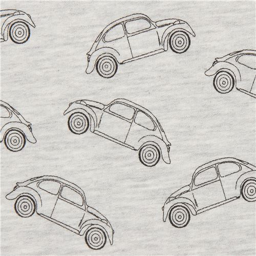 Stof Fabrics soft grey car sweat fabric