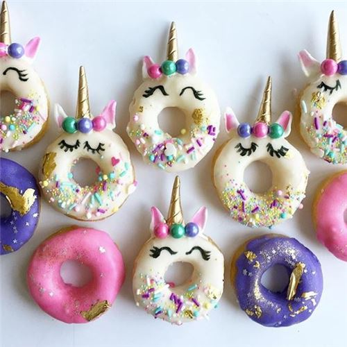 What adorable unicorn donuts! From @thepurplecupcake_ on Instagram.