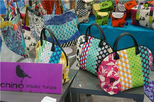 Beautiful bags wesed with echino twin fabrics