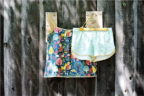 Super cute shorts and tank top, photo from birch.com